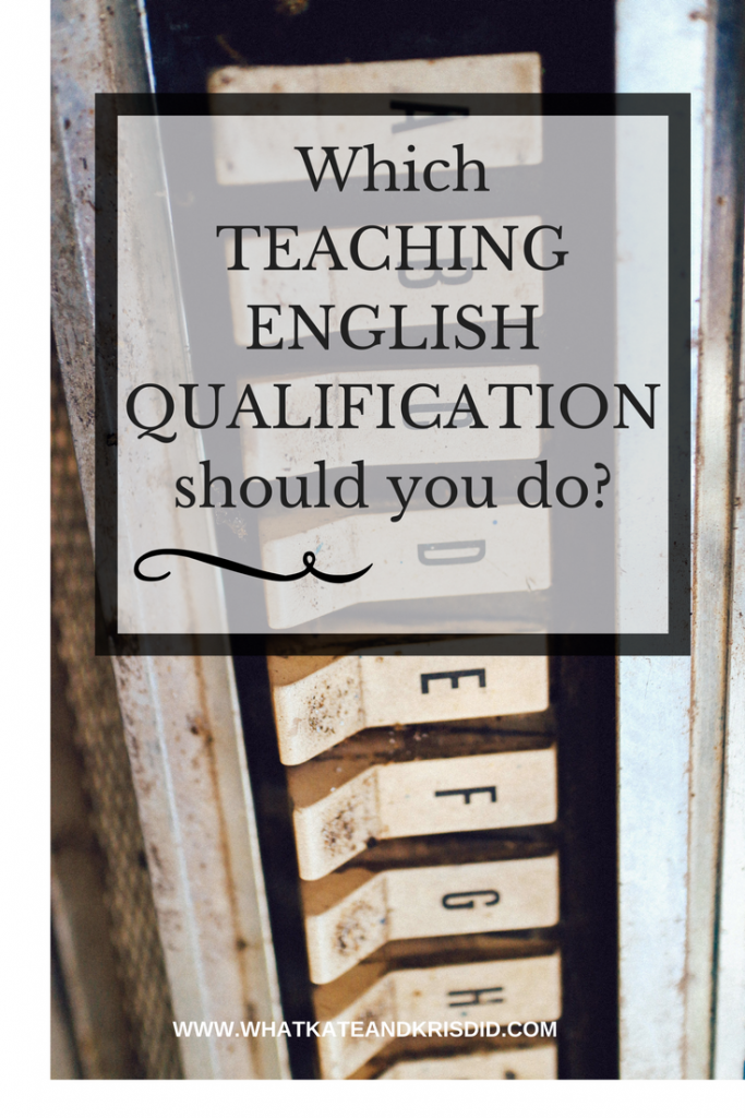 What qualifications do I need to teach in English or