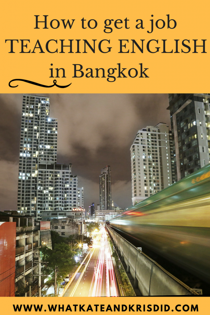 How to get a job teaching English in Bangkok [2019 edition] - What