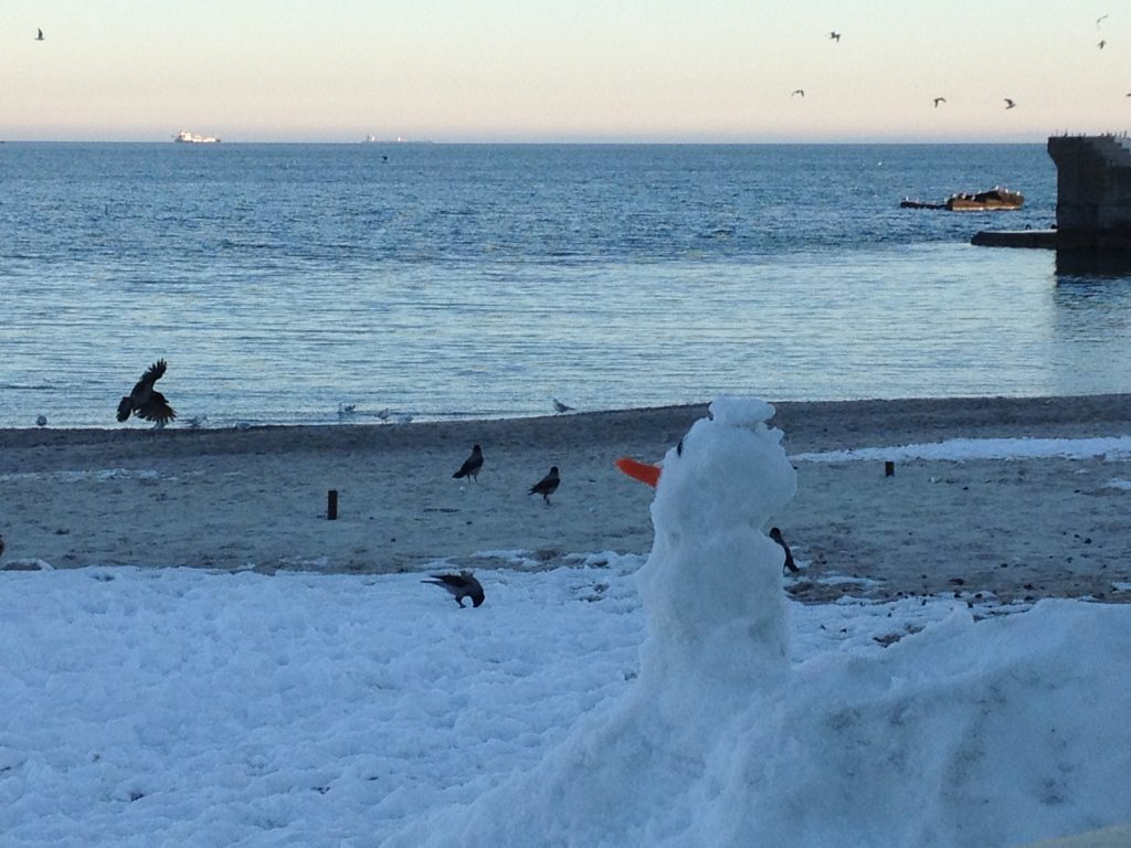 Winter beach kiev - 4 1